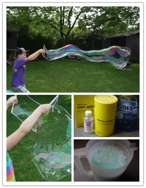 DIY Giant Homemade Bubbles
