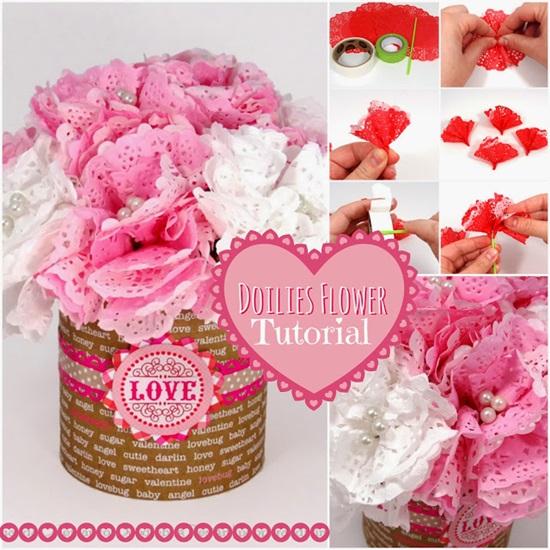 DIY Paper Doily Flower