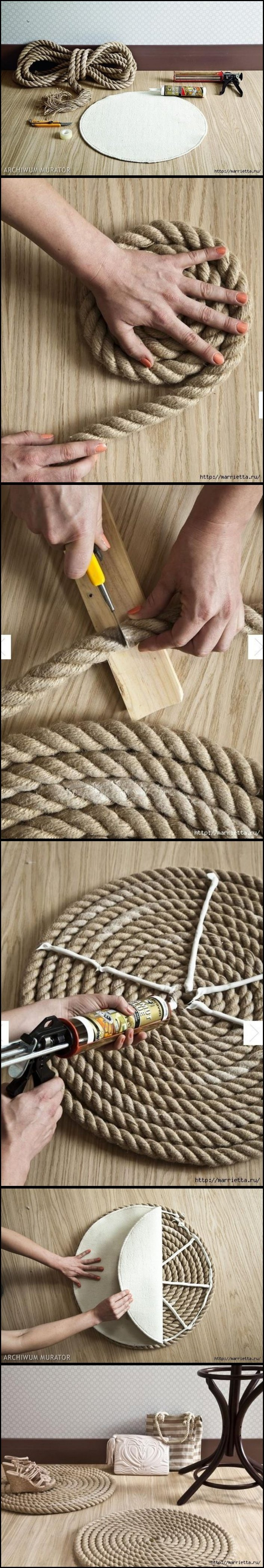 DIY Simple Rope Rug