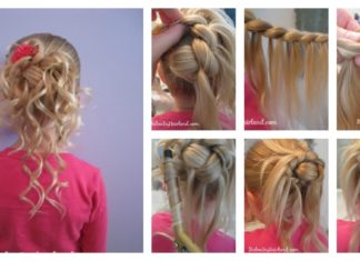 DIY Feather Braided Bun for Flower Girl Hairstyle