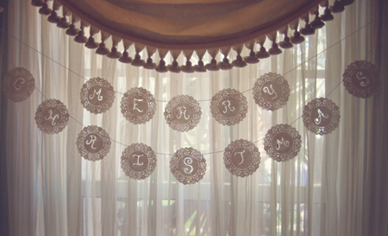 Paper Doily Letter Garland