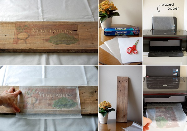 cool creativity diy how to print pictures on wood