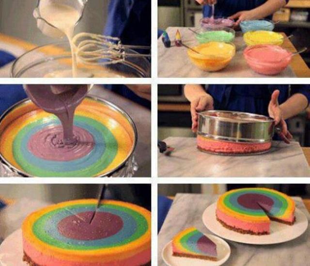 Cake Designs Diy : DIY Make Rainbow Cake