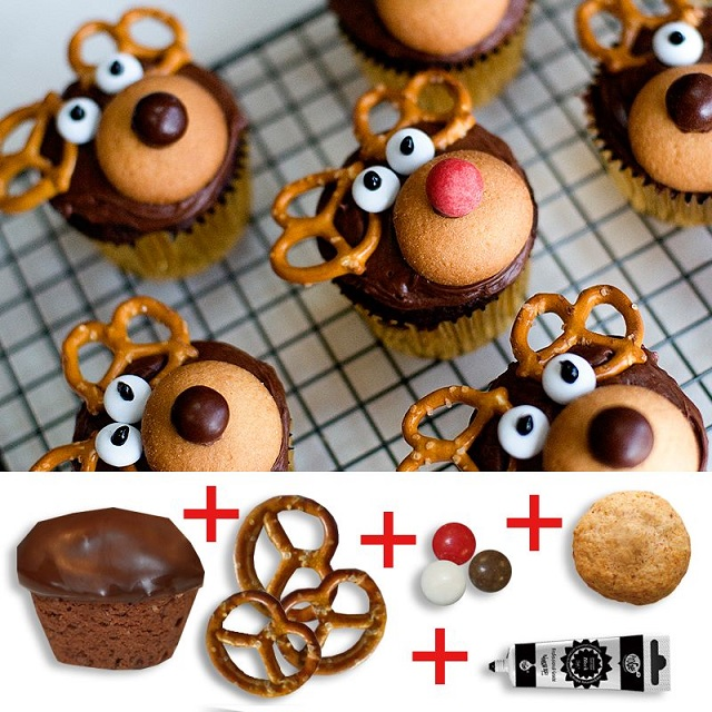 How to DIY Make Reindeer Cupcake