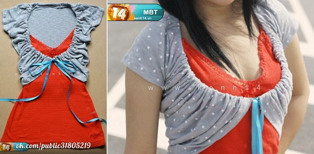 DIY Make Cute Bolero from an Old T-shirt