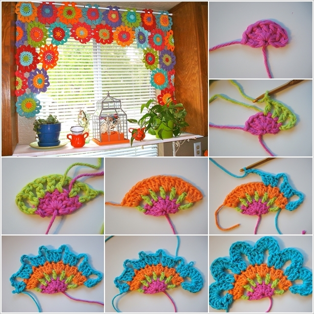 DIY Adorn Your Window with a Flower Crochet Valance