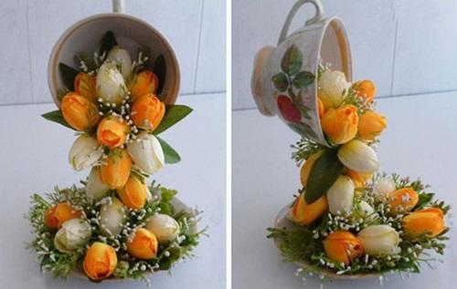 diy beautiful flying flower arrangements