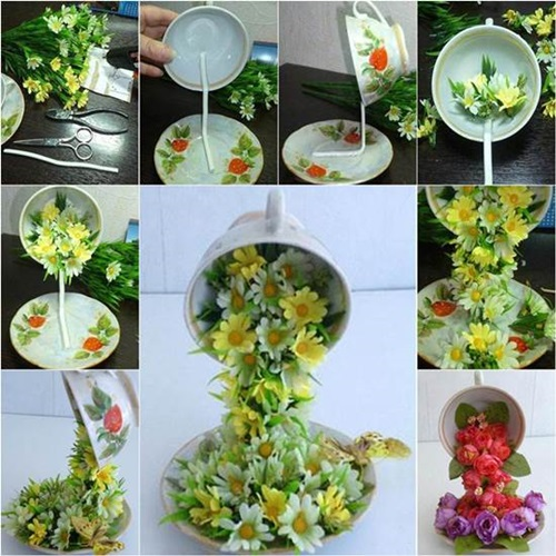 Cool Creativity Diy Beautiful Flying Flower Arrangements