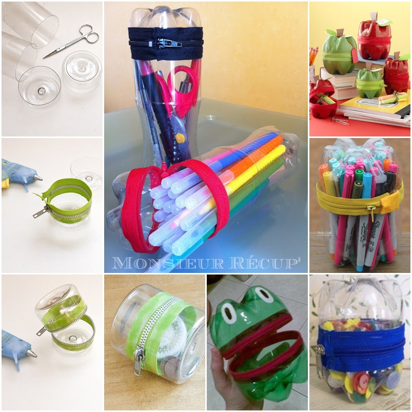 diy creative zipper container from plastic bottle Cool Creativity u2014 DIY Creative Zipper