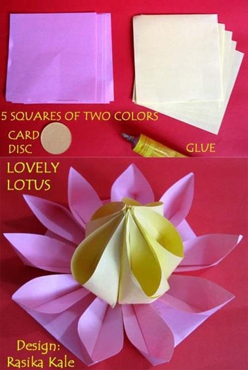 Cool Creativity Diy Cute Paper Origami Lotus