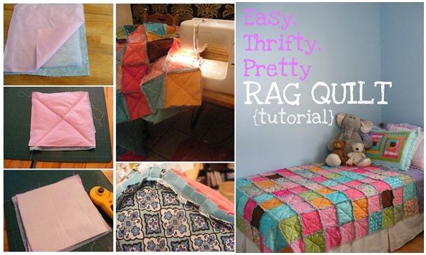 Easy, Thrifty, Pretty Rag Quilt : easy diy quilts - Adamdwight.com