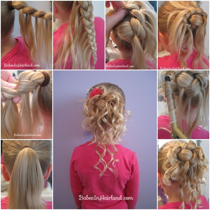 diy-feather-braided-bun-for-flower-girl-hairstyle-f