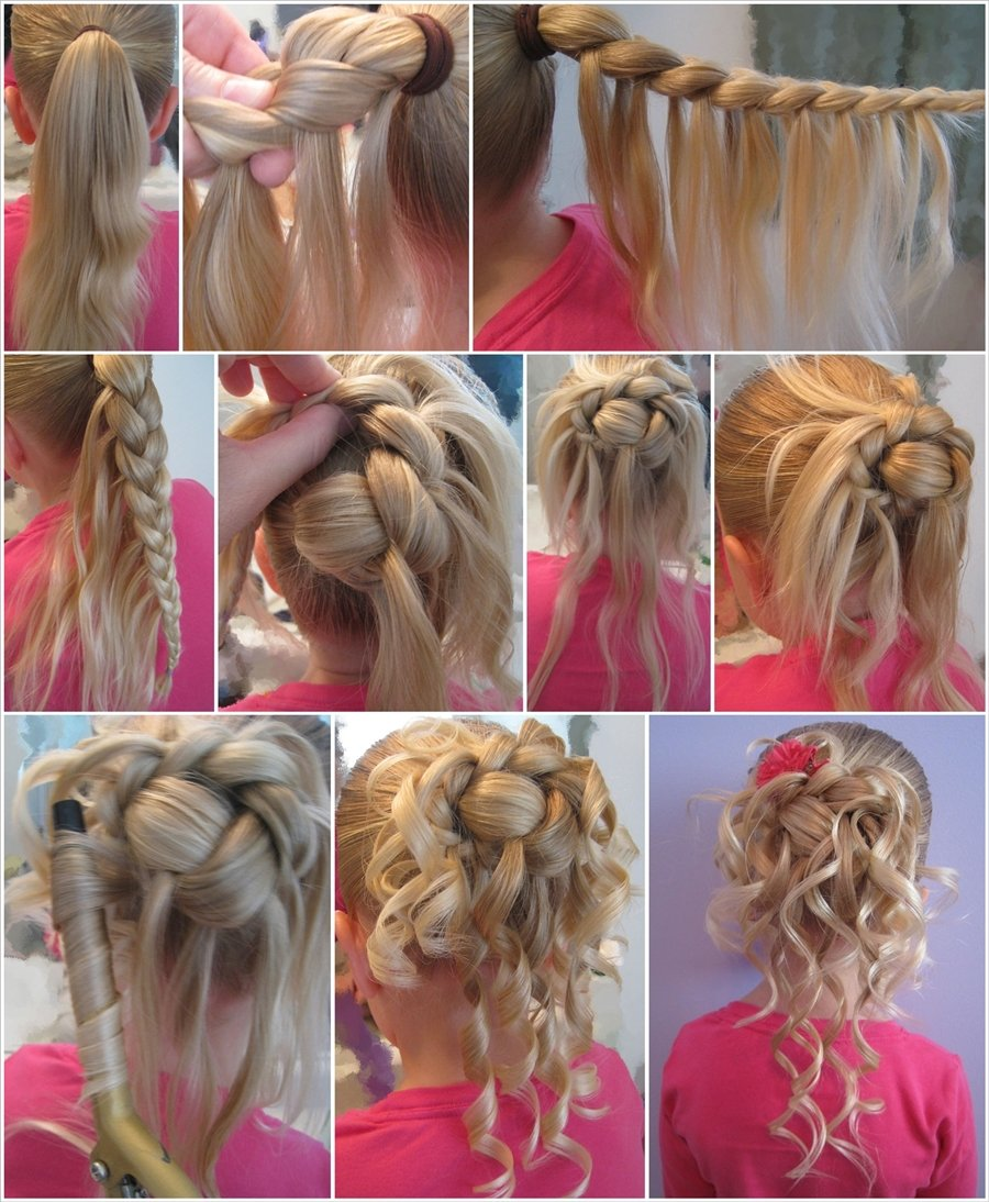 Diy Feather Braided Bun For Flower Girl Hairstyle Cool Creativities