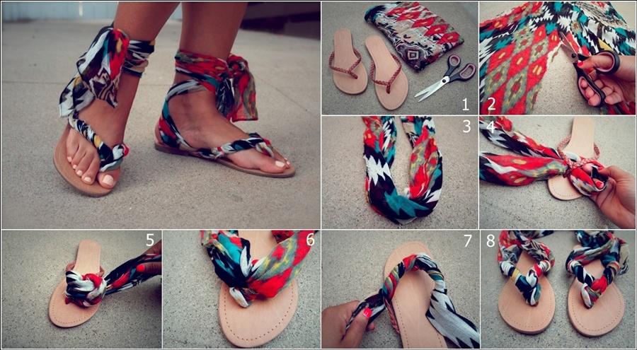 DIY Gladiator Wrap Sandals