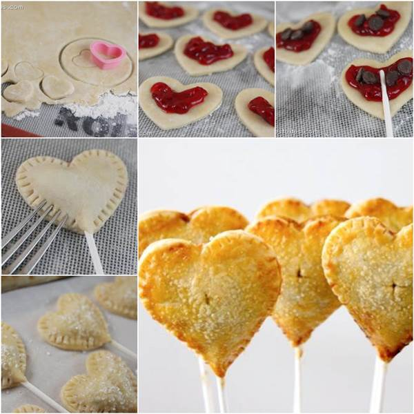 This recipe for making Heart Shaped Sweetie Pie Pops is great to do ...