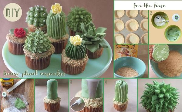 DIY House Plant Cupcakes
