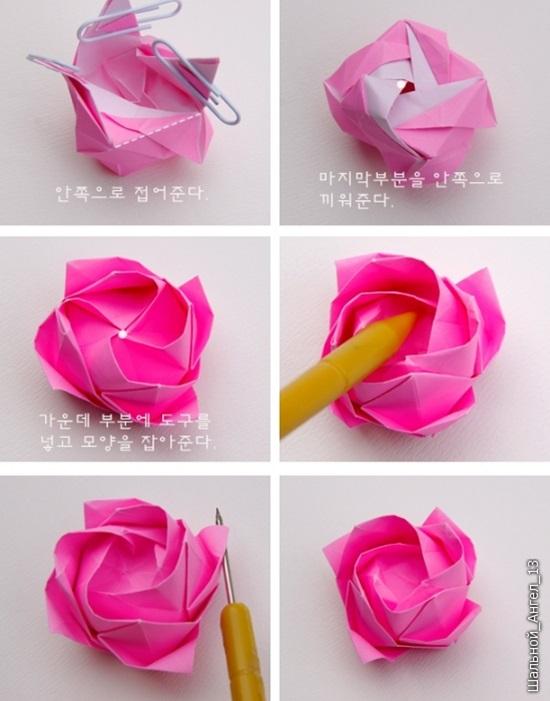 Diy Origami Rose 08 Cool Creativities