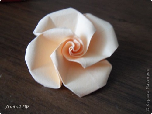 Origami Easy Twisty Rose - YouTube | 375x500