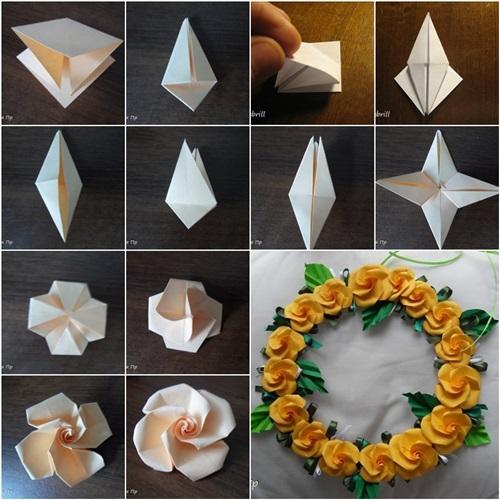 DIY Origami Twisty Rose