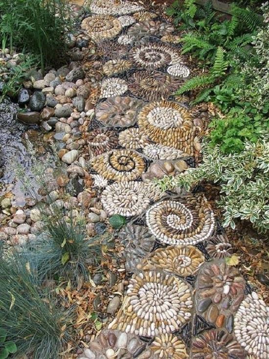 pebbles for garden path
