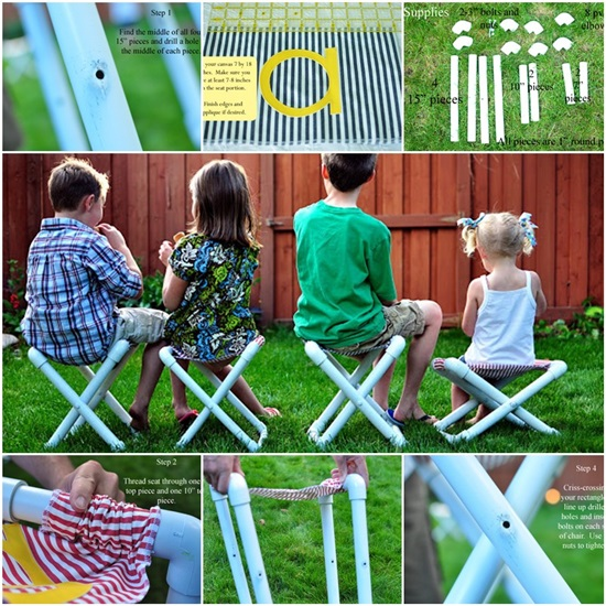 DIY PVC Pipe Camp Chair