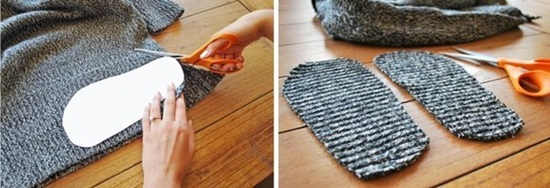 diy-recycle-old-sweater-into-cozy-slipper-bootie-4