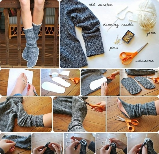 diy-recycle-old-sweater-into-cozy-slipper-bootie-f