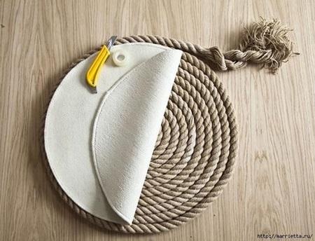 Diy Simple Rope Rug Cool Creativities