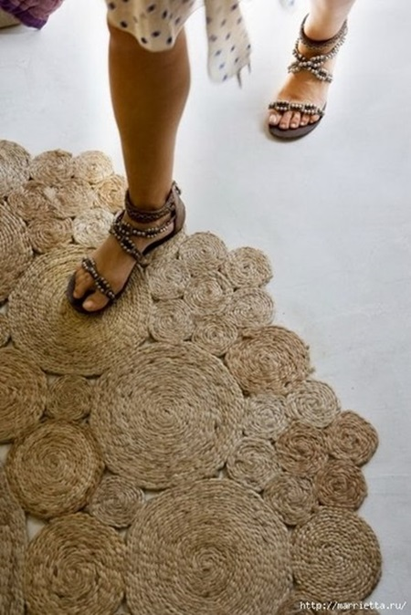 cool creativity diy simple rope rug