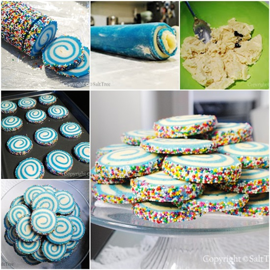 ... treats to add to your party dessert table? This amazing swirl cookies
