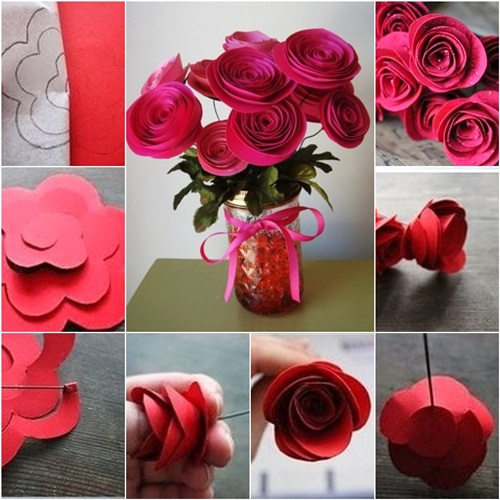DIY Swirly Paper Roses
