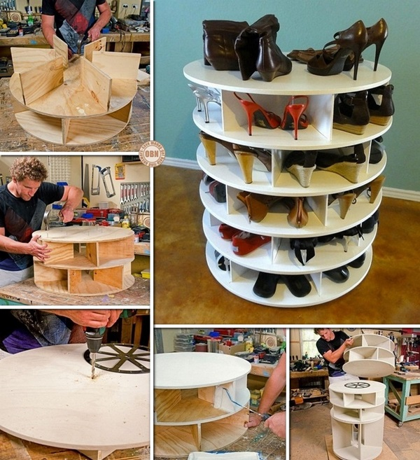 DIY-platines-plateaux-chaussures-stockage-rack-lazy-susann style