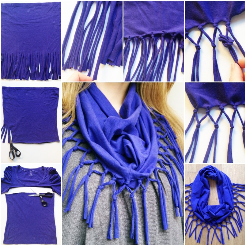 How To Turn An Old T-shirt To Scarf