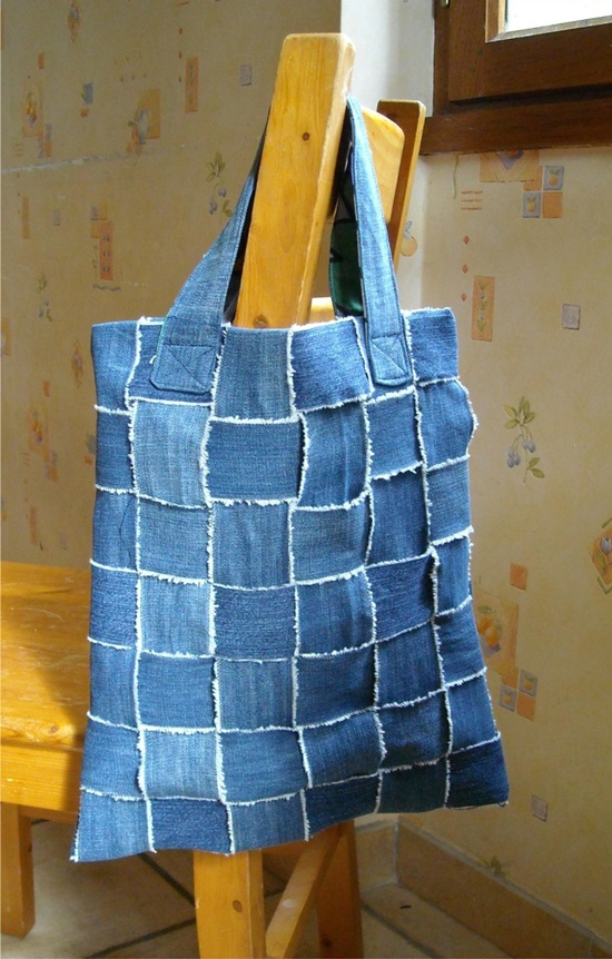 Upcycle Your Old Jeans Into An Amazing Woven Bag