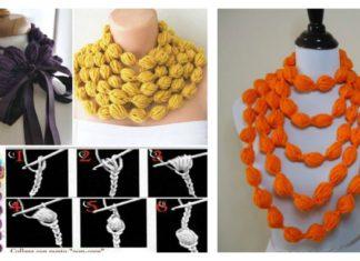 DIY Crochet Puff Ball Scarf
