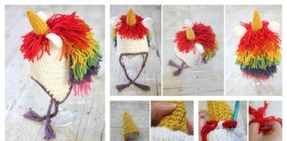 Cute Unicorn Hat Free Crochet Pattern