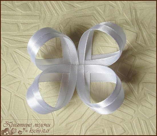 DIY Beautiful Satin Ribbon Hair Clip-4