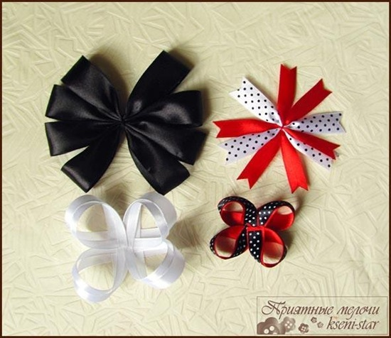 DIY Beautiful Satin Ribbon Hair Clip-6