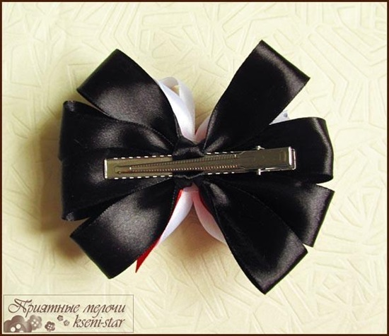 DIY Beautiful Satin Ribbon Hair Clip-8