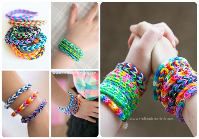 DIY Cool Rubber Band Bracelet with Pencils1