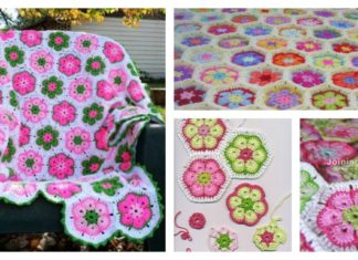 DIY Crochet African Flower Blanket Free Pattern