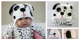 DIY Crochet Cute Dalmatian Dog Baby Hat