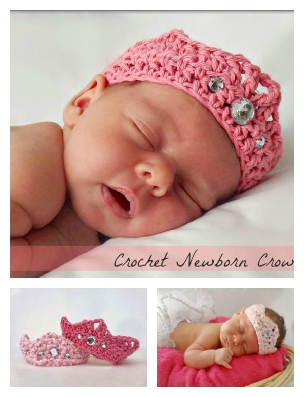 DIY Crochet Newborn Crown