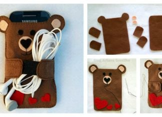 DIY Cute Felt Cell Phone Case