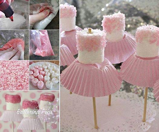 DIY Cute Marshmallow Ballerinas for Party