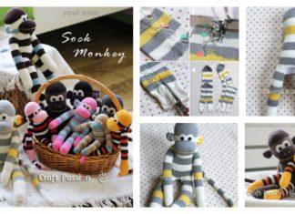 DIY Cute Sock Monkey Puppet