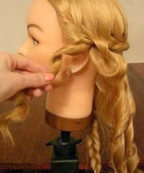 DIY Elegant Braided Low Bun Hairstyle