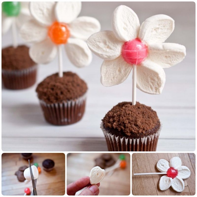DIY Spring Marshmallow Flower