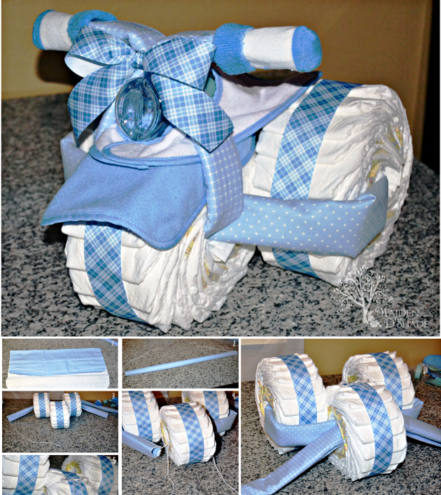 DIY Diaper Tricycle Cake