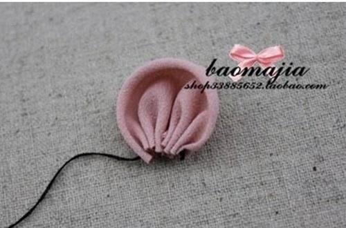DIY nice fabric flower hair clip-00-03